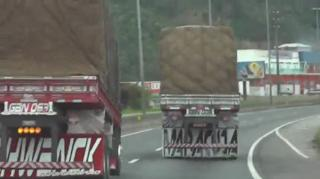 Crazy truck driver, this what you can call an as.h.l. view on ebaumsworld.com tube online.