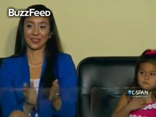 Julian Castro's Daughter Flipping Her Hair @ DNC view on ebaumsworld.com tube online.