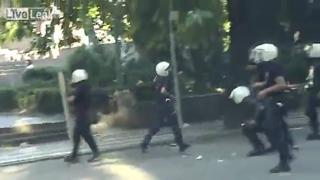 Scene of Brutal Turkish Police Shooting! view on ebaumsworld.com tube online.