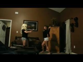 White girls booty dance