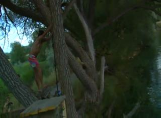 Rope Swing Backflip Turns Into Painful Front Flip