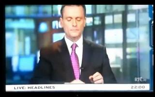 Irish News Anchor Blooper! WHAAT! view on ebaumsworld.com tube online.