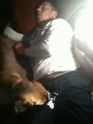 Dog Gives Drunk Guy Some Love... view on ebaumsworld.com tube online.
