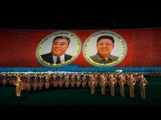 North Koreans Create Human Mosaic of 10,000 People view on ebaumsworld.com tube online.