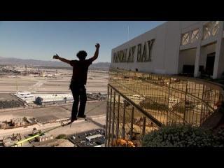 World Record Slack Line Crossing Above Las Vegas Strip view on ebaumsworld.com tube online.