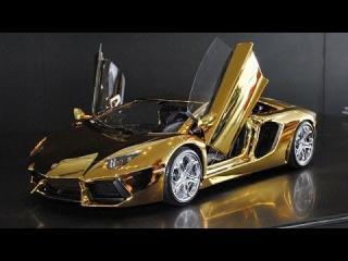 World's Most Expensive Model Car: Golden Lamborghini view on ebaumsworld.com tube online.