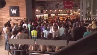 Woolies and Soweto Gospel Choir - Mandella Flash Mob Tribute view on ebaumsworld.com tube online.