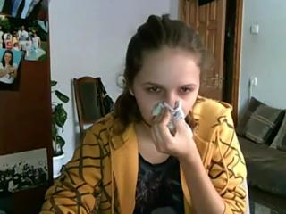 Epic Fail. Gross young girl has snotty, coughy, sneezy cold! view on ebaumsworld.com tube online.