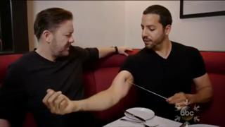 David Blaine Freaks Out Ricky Gervais view on ebaumsworld.com tube online.