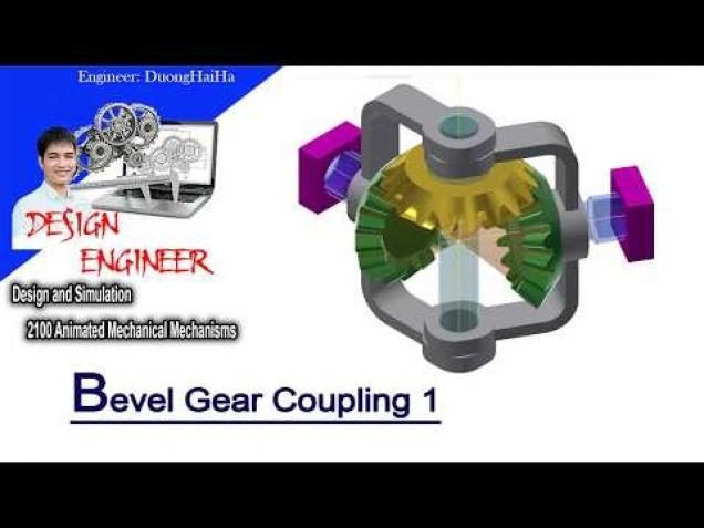 Bevel Gear Animation : Couplings bevel gear coupling tutorial design