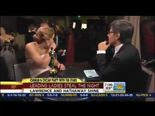Jennifer Lawrence Meets Jack Nicholson For The First Time view on ebaumsworld.com tube online.