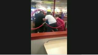 Mother of the Year Holding Baby Starts Chuck E. Cheese Brawl view on ebaumsworld.com tube online.