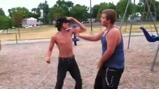 Shadow Boxer Gets Pissed view on ebaumsworld.com tube online.