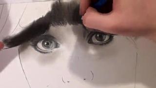 Zooey Deschanel - Speed Drawing view on ebaumsworld.com tube online.