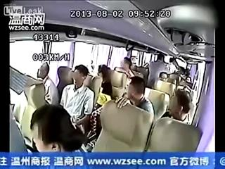 Bus Driver Flies Out Window In China view on ebaumsworld.com tube online.