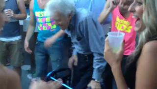 Grandpa Gets Down At Party view on ebaumsworld.com tube online.