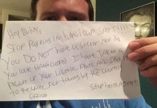 Disabled Veteran's Perfect Response To Note On Windshield