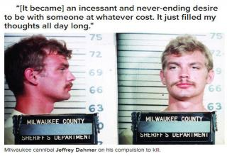Jeffrey Dahmer taking mug shots.