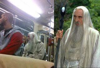 sauron look alike on subway