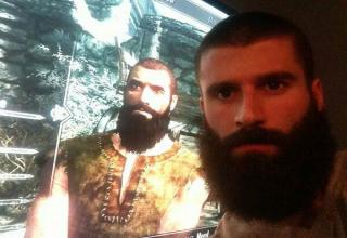 man with beard looks like video game character