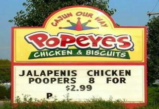 popeyes sign jalapenis poopers