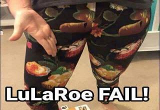 funny yoga pants fail looks like a penis sticking out