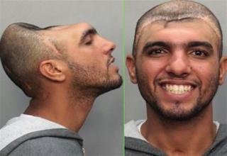 Crazy mugshot, deformed head - Picture   eBaum's World