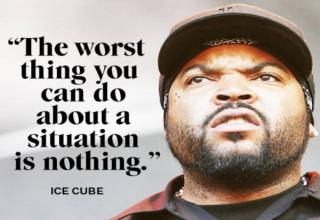 ice cube with quote about doing nothing
