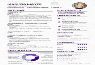 this is what the ceo of yahoo marissa mayer resume looks like a private pr firm prepared it for her