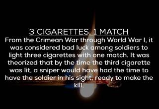 matches and cigarettes superstition from ww2