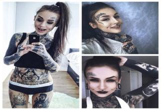 girl with tattoos head to toe