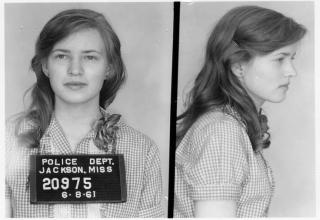 civil rights activist woman mug shot from 1961
