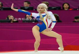 Daenerys Targaryen dancing gymnastics in the The Game Of Thrones Olympics