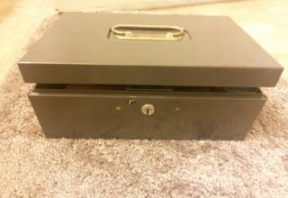 lock box that has been pryed open