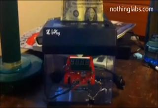 Money Shredder Alarm Clock