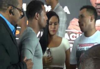 Boxer Spanks Opponents Girlfriend During Face-off