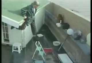 The Safest Way To Get Off A Roof Video Ebaum S World