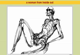 A Woman Drawn From Inside Out