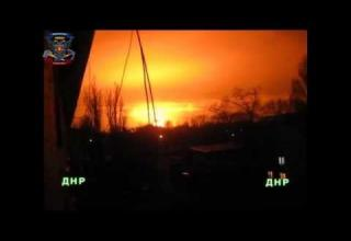 huge bomb explodes lighting up sky