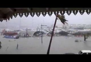 Destruction Caused by Hurricane Irma in St. Martin