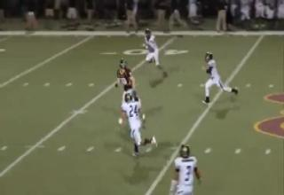High School Ref Gets Destroyed By Wide Receiver