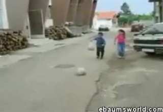 Cement Ball Prank