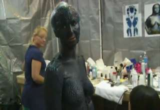 Jennifer Lawrence Mystique Makeup Process Jennifer Lawrence Spot...