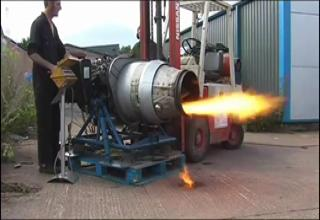 Jet Engine Almost Blows