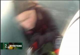 Couple Stranded When The Ice On The Water Breaks view on ebaumsworld.com tube online.