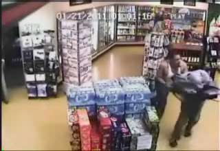 Punk Beats The Hell Out Of Store Clerk view on ebaumsworld.com tube online.