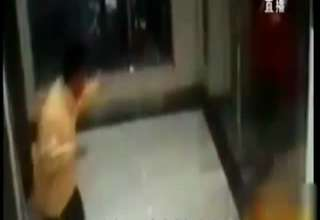 Guy Defeats Knife-Wielding Robber At ATM view on ebaumsworld.com tube online.
