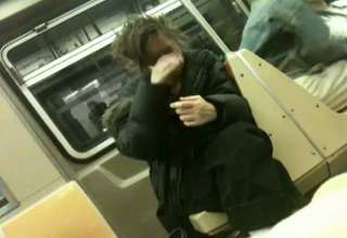 CRAZY LADY ON SUBWAY
