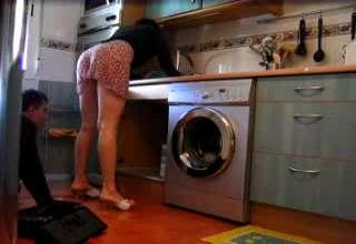 Spanish plumber upskirt