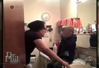 Mother forces son to drink hot sauce and take cold shower view on ebaumsworld.com tube online.